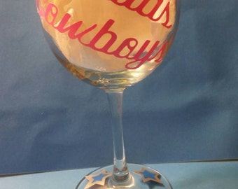 Personalized wine glass made to order