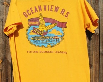1970's Ocean View High School Graphic T shirt