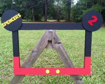 Mickey Mouse inspired full size photo prop frame