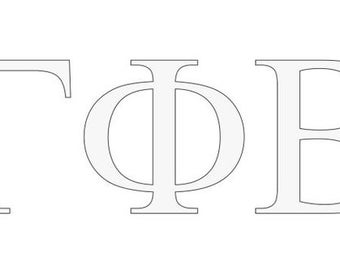 Gamma Phi Beta Letter Window Decal