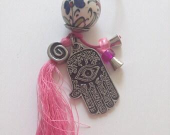 Handpainted Turkish ceramic keychain