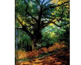 "Claude Monet, ""Bodmer Oak at Fountainbleau Forest"" 14"" x 18"" x 1.5"" Canvas Gallery Wrap Print"