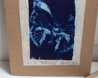 Butterfly Cyanotype Print