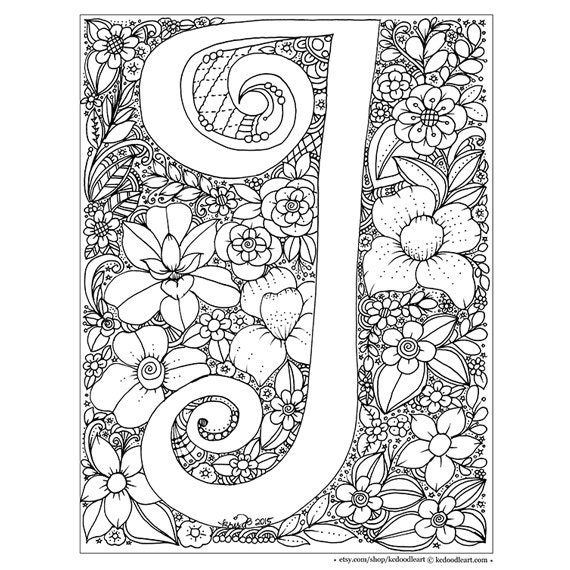 j coloring pages for adults - photo #7