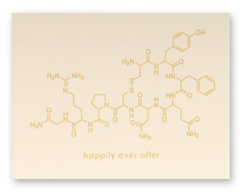 Chemistry Nerd Wedding Card - Science Wedding Card - Geek Wedding Card - Happily Ever After