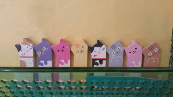 Fun Cat Sticky Bookmarks from Raw Possibility