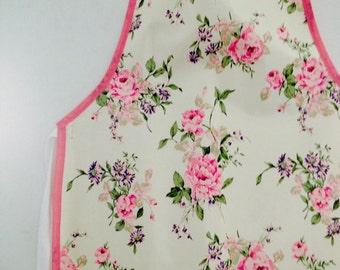 Handmade Rose Print Apron