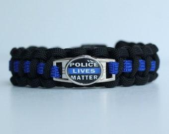Police Lives Matter Paracord Bracelet Paracord By
