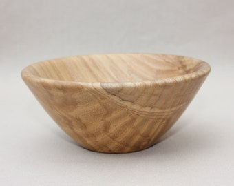 Turned wooden ash bowl
