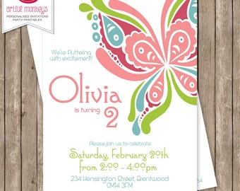 Butterfly Invitation - Any Occasion!