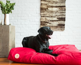 CAMPFIRE RED Pet Bed   100% Cotton Heavyweight Duck Canvas   Handsome Mountain Pet Supplies  