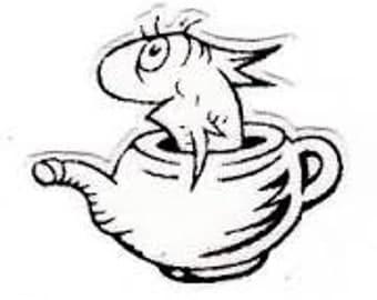 Dr. Seuss Fish in Tea Pot