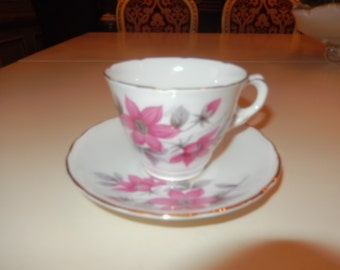 ENGLAND STAFFORDSHIRE ROYAL Kent Teacup and Saucer