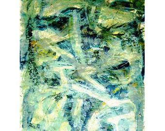 Go Green-1. Giclee Fine Art Print, Abstract  Art, Wall Art, Home Office Decor
