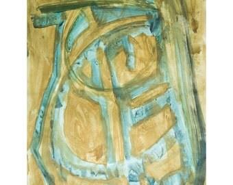 Summer Time-3. Giclee Fine Art Print, Abstract  Art, Wall Art, Home Office Decor