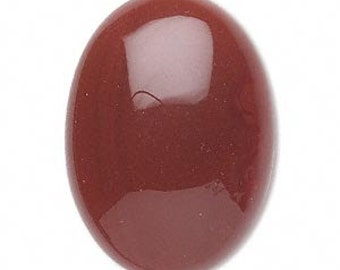 Red Agate Cabochon, Oval Cabochon, B Grade Agate, 25x18mm, 1 each, D562
