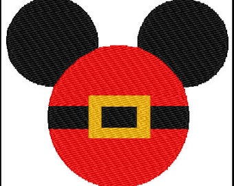Mickey Mouse Santa Christmas Embroidery Pattern Design