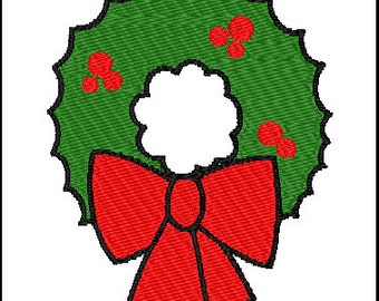 Christmas Wreath Embroidery Pattern Design
