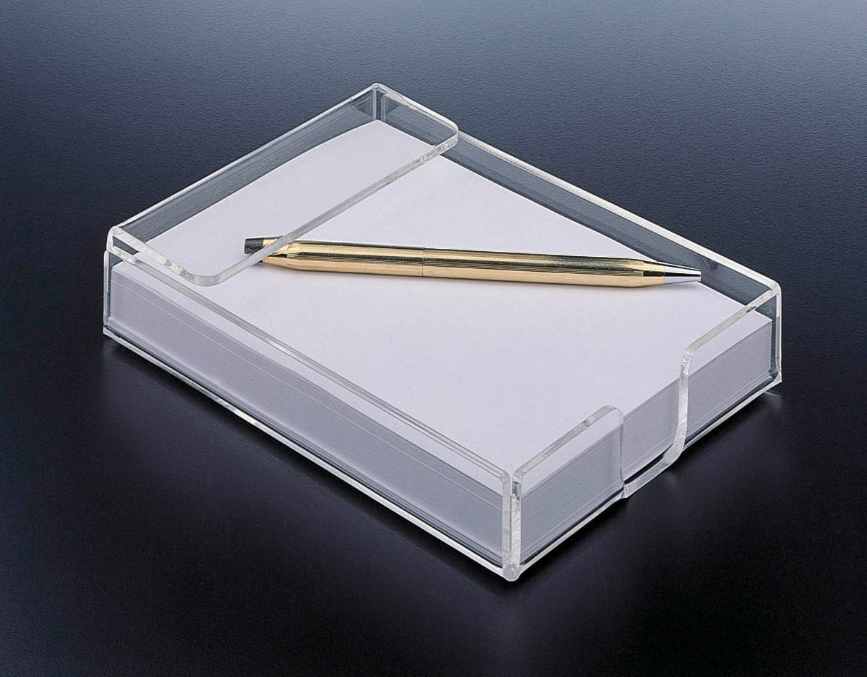 Notepad Holder Blank Acrylic Lucite Notepad Holder With