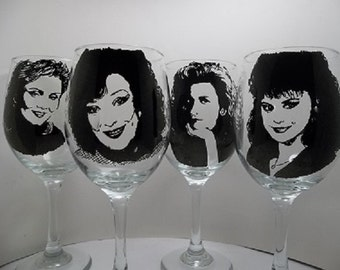 Hand painted glasses, Painted wine glasses, Designing Women