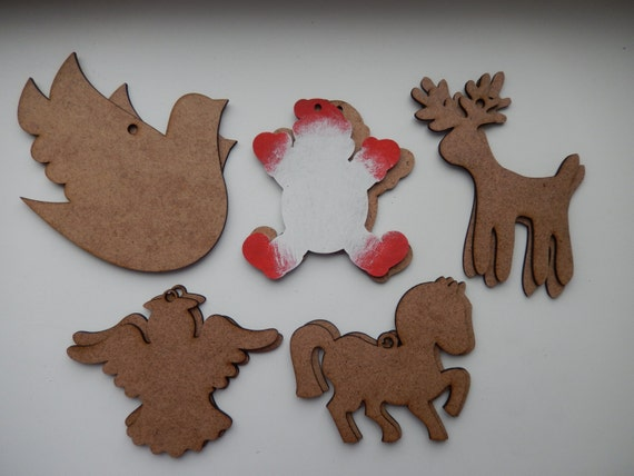 Items similar to christmas wooden ornamnets xmas wooden for Wooden christmas cutouts