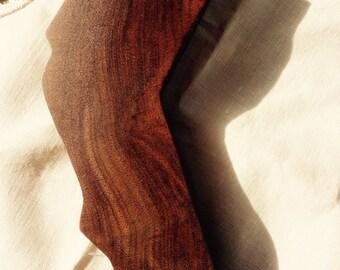 Black Walnut burl shaped like California