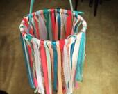 Nursery Mobile - Handmade Ribbon Lace Nursery Decor Pink Blue