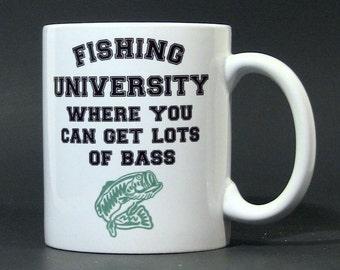 110z Hot Beverage Fishing University Mug