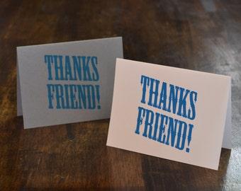 Thanks Friend ! Greeting Cards, Set of Twelve