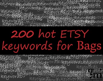 200 Keywords and Tags for Bags, 200 SEO keywords BAGS, Bags Keywords, Bags Tags