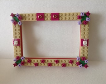Lego Photo Frame Picture Frame *Customised' To Order Choose Your Colours