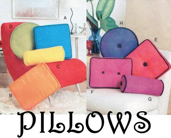 Decorative Neck Roll Pillow Pattern : Pillow Pattern Vogue 7420 UNCUT Neck Roll Pillow Throw