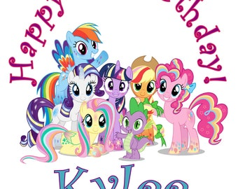 My little pony Personalized Birthday Party T Shirt Tee Boys Girls 1st 2 3 4 5 6 7 8 9