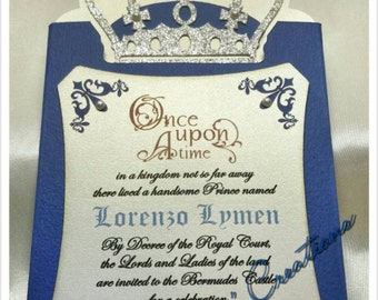 Custom Prince theme pocket invitation