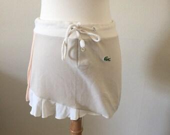 vintage lacost tennis skirt