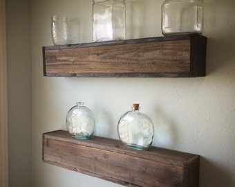 Rustic Cedar Floating Shelf, (Pick A Size), Rustic, Southern, Home Decor, Organization