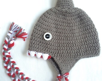 Crocheted Shark Hat