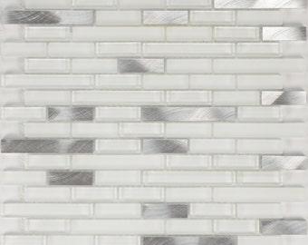 Arvex Glass and Aluminum Brick Mosaic (ARALGS12B)