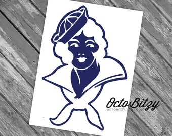 Sailor Girl Vinyl Decal Sticker