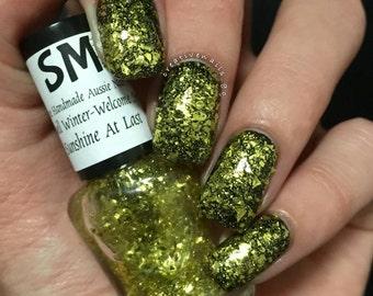 Sunshine At Last/ Golden Flakies/Indie Nail Polish