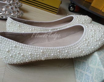 Ivory Bridal Flower Girl ShoesCustom Flower Girls Shoes/ Women/ Girls Shoes, ballet flat shoes, Soft Comfortable Flat Shoes