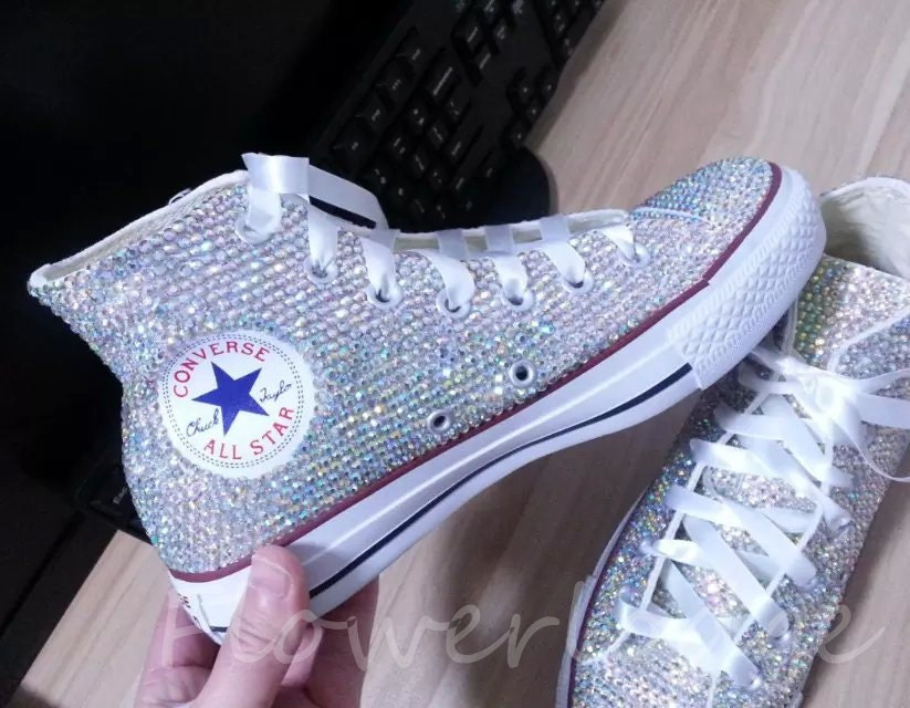 converse/ bling converse/ rhinestone converse/ converse high tops/ custom converse/ bedazzled sneakers/ converse all stars/ chuck taylor. Find this Pin and more on Products by Etsy. These are custom request orders, the pair in this listing are sold.