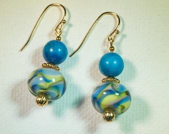 Sun and sky earrings-A196