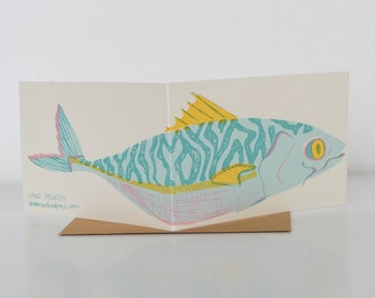 Mackerel Greetings Card