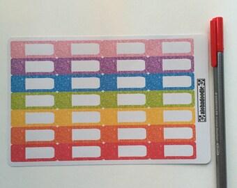 Glittered Label Stickers