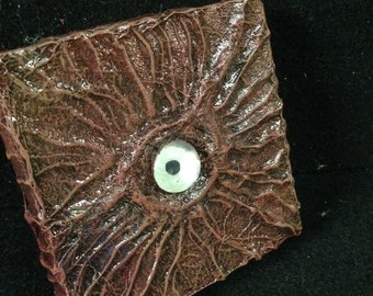 Eerie Eye - Mixed Media on Canvas w/ mini easel