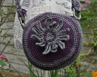 Circular Crochet Crossbody Bag