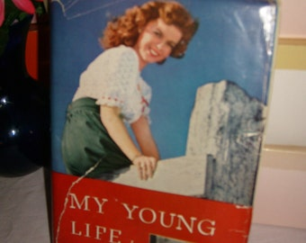 xrare-very hard to find bestseller vintage 1945 shirley temple first edition book'my young life'loaded with photos,written by shirley***