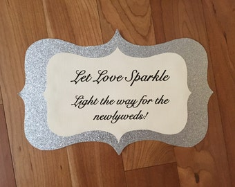 Sparkler wedding sign custom colors