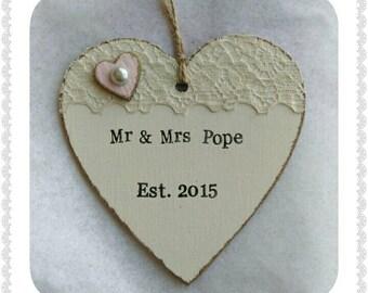 Bespoke wedding gift heart